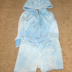 Toddler Girl 2PC Jogger Set Blue By Butter 2T